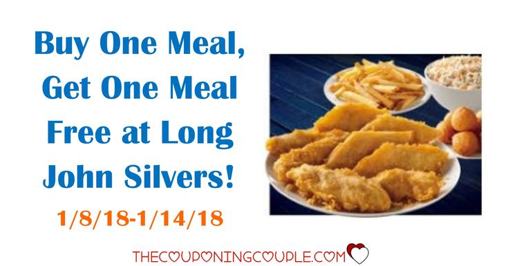 Buy One Meal, Get One Meal Free at Long John Silvers from 1/8/18-1/14/18! What an easy, cheap dinner for two!  Click the link below to get all of the details ► http://www.thecouponingcouple.com/long-john-silvers/ #Coupons #Couponing #CouponCommunity  Visit us at http://www.thecouponingcouple.com for more great posts!