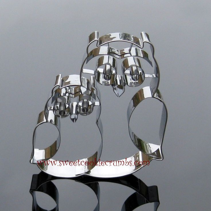Owl Pair Cookie Cutter - Stainless Steel