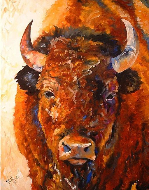 Southwest art | Art: SOUTHWEST BUFFALO by Artist Marcia Baldwin