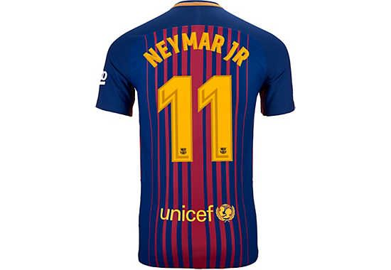 2017/18 Nike Neymar Jr Authentic FC Barcelona Match Jersey. Buy your own from SoccerPro right now.