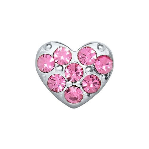 Pink crystal zinc alloy charm by THECHARMEDCOMPANY on Etsy