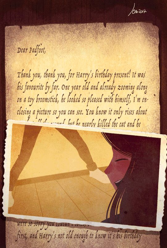 Lily's letter to Padfoot by Space Dementia gif