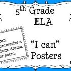 "own this; PRINT IT; This set of 52 slides includes ""I can"" statements for each of the 5th grade Common Core ELA standards. The standards are written in kid-friendly la..."