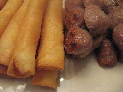Mom's Recipes: Nem Nướng & Ram Tôm Cuốn (Pork Meatballs & Shrimp Spring Rolls)