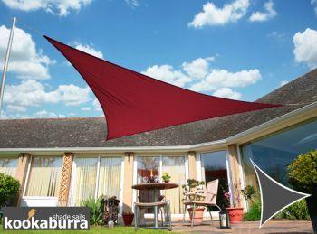 Kookaburra 3m Triangle Wine Waterproof Woven Shade Sail