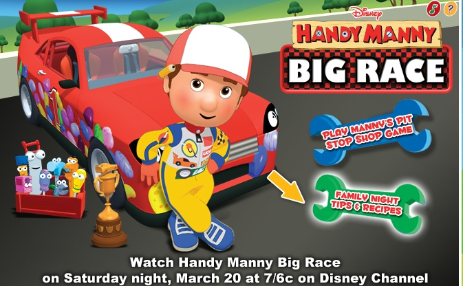 Handy Manny Big Race Its time for our *2nd BirtHday