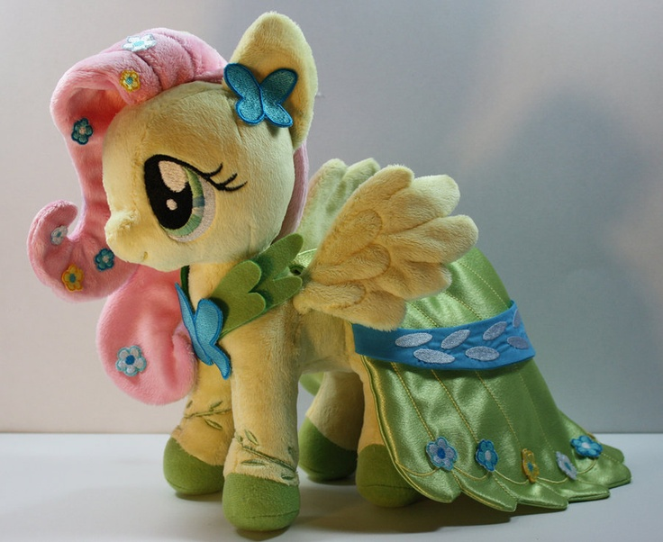 Gala Fluttershy Plush by Babylondonstar.  One of the first truely beautiful My Little Pony plushies I encountered.