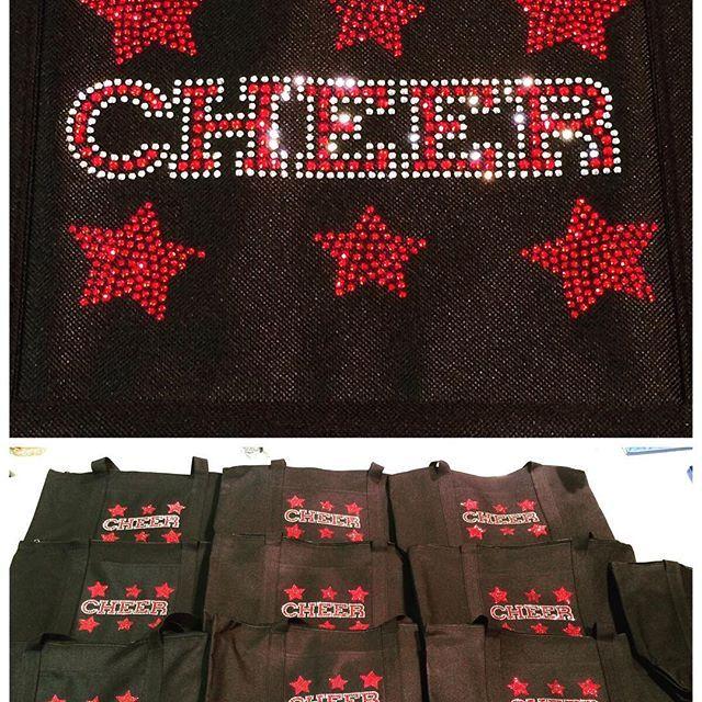 Need #Cheer #totebags we are making lots of #custom #bags for many #cheerteams. #megaphone #cheerleader #cheerbag #cheermom #bling #rhinestone #rhinestones #shine #hustle #sparkle #sparkles redcheer #entrepreneur