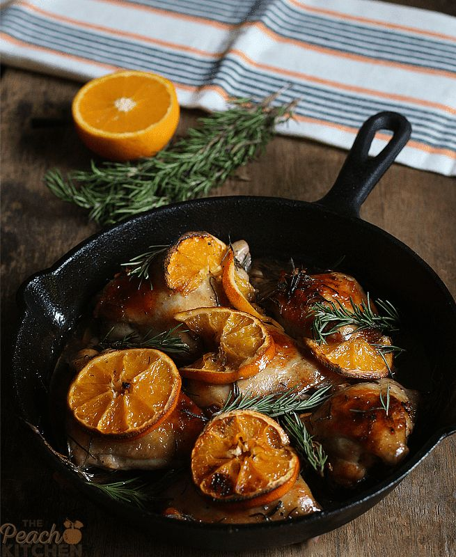 Orange Rosemary Roasted Chicken Thighs