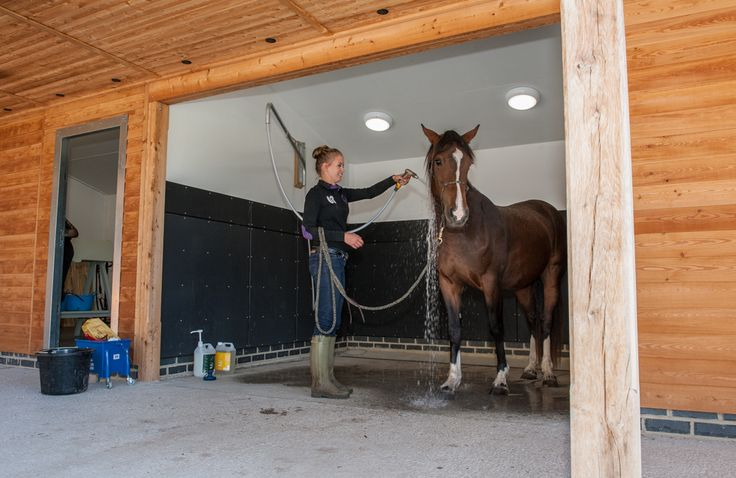 Washdown areas are a must in a new stable yard!