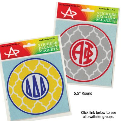 Sorority Quatrefoil Monogram Sticker #greek #gifts #accessories #diy #gifts
