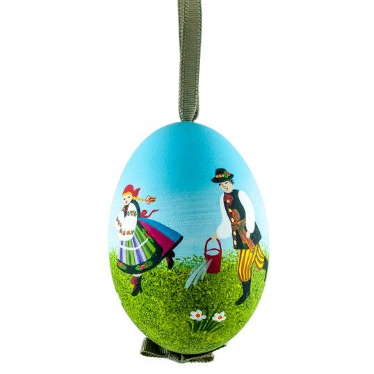 """Hand painted goose egg from Poland. In polish it is called """"pisanka""""."""