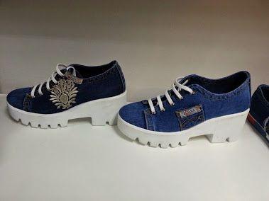 Джинсовая обувь на тракторной подошве   Такая обувь прогнозирует остаться трендом не только этого сезона, но и последующих нескольких лет, потому что она очень быстро завоевала сердца модниц как видом, так и практичностью и с ней вряд ли захотят так скоро расставаться.   размеры 36 - 41