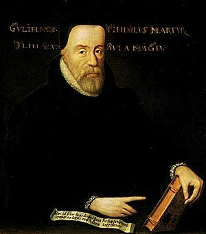 """William Tyndale holds the distinction of being the first man to ever print the New Testament in the English language. Tyndale was a true scholar and a genius, so fluent in eight languages that it was said one would think any one of them to be his native tongue. He is frequently referred to as the """"Architect of the English Language"""", (even more so than William Shakespeare) as so many of the phrases Tyndale coined are still in our language today."""
