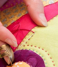 Beginner's guide to hand quilting by Sarah Fielke                                                                                                                                                     More
