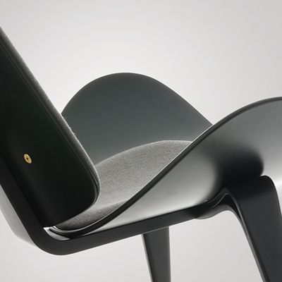 """Hans J. Wegner, Three-Legged Chair, 1963.   """"A chair is to have no backside. It should be beautiful from all sides and angles."""""""