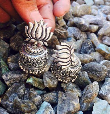 Hand crafted German silver Jumkhas | Buy Online Silver Jewelery | Elegant Fashion Wear