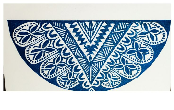 JSP ART greeting card designed by Jessica. Hand printed