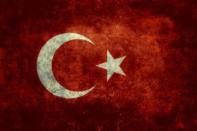 The National flag of Turkey - Vintage version Stretched Canvas