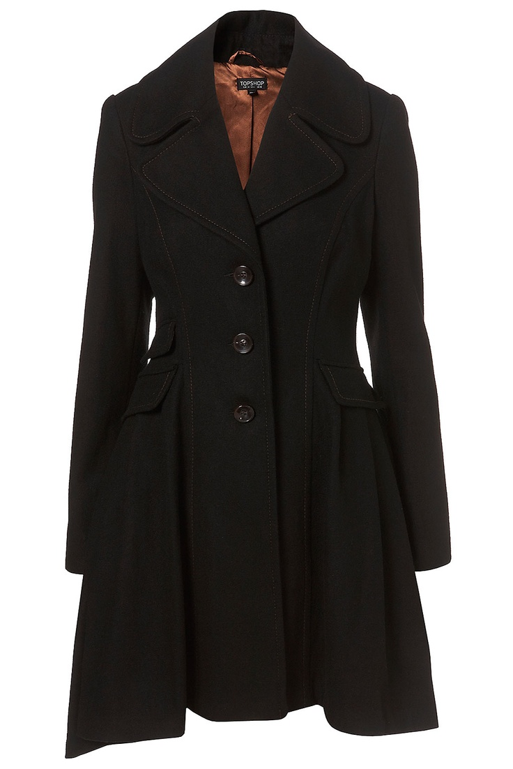 Black Princess Coat - TOPSHOP: Black Princesses, Fashion, Style Boards, Winter Style, Princesses Coats, Trench Coats