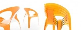 Colorful Stackable Plastic Chairs by Angelo Tomaiuolo #furniture