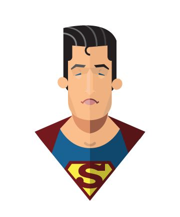 Flat Design Superheroes from Jeffrey Rau - Speckyboy Design Magazine