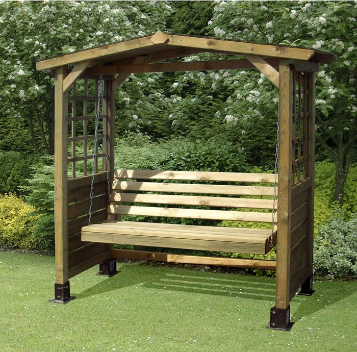 wooden garden swing bench plans - DIY Woodworking Projects