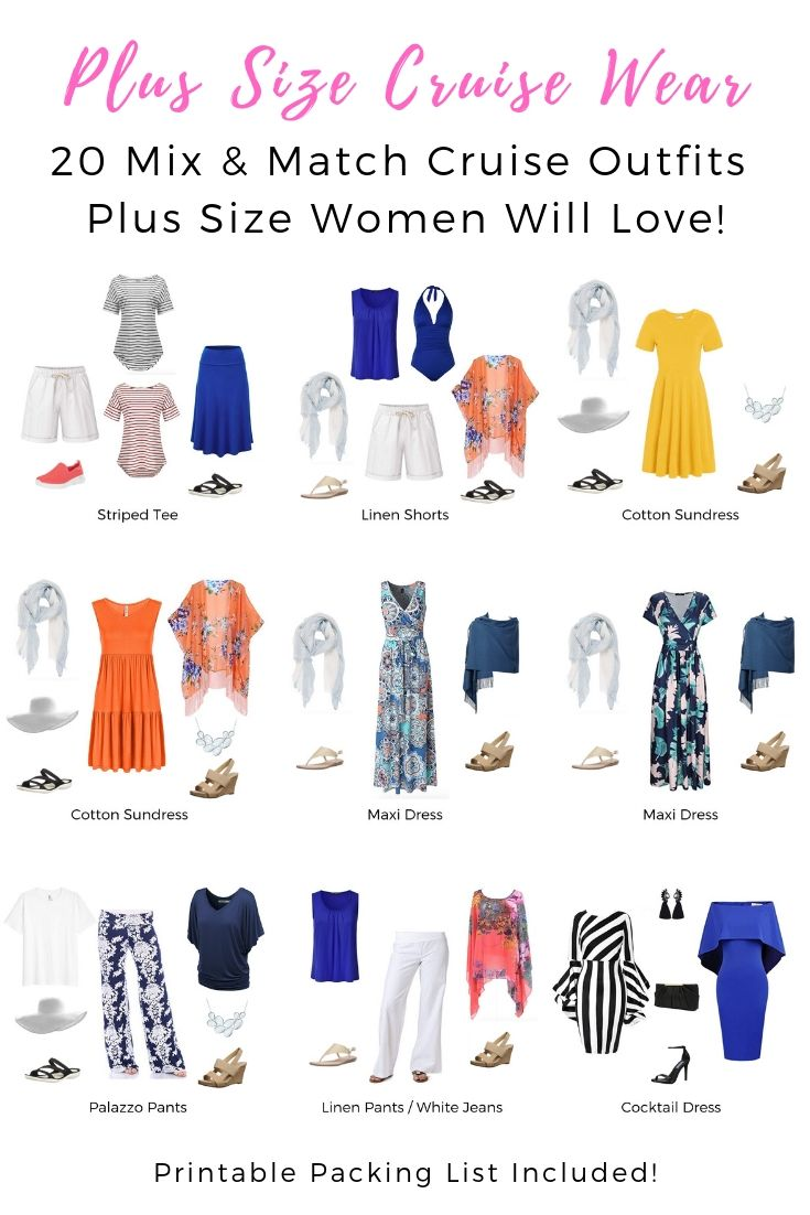 c8a544747d9 Plus Size Cruise Wear - 20 Mix   Match Cruise Outfits Plus Size Women Will  Love!