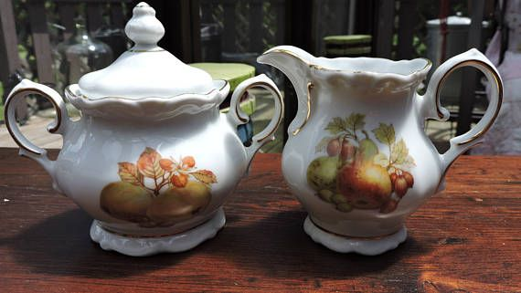 Winterling Roslau Cream and Sugar with Fruit & Nut Bavaria