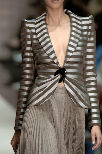 ❦ Armani Privé Fall Love this jacket - pretty sure I wouldn't wear it this way, but love it
