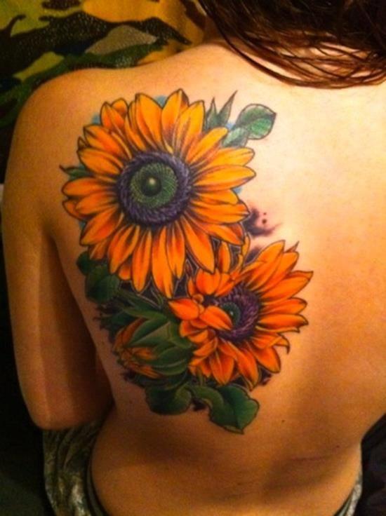 sunflower watercolor tattoo - Google Search