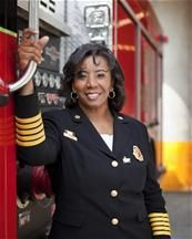 Rosemary Roberts Cloud - the first African American Female Fire Chief in the United States.: