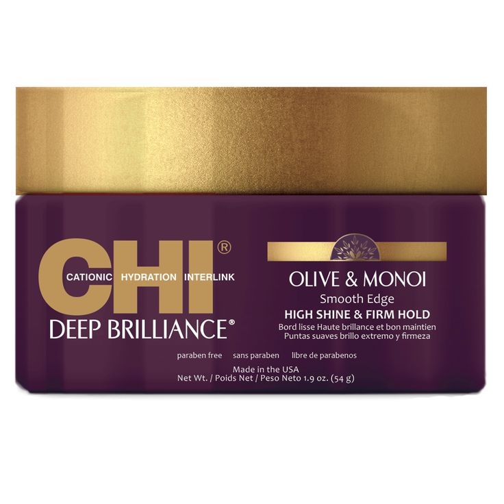 CHI Deep Brilliance Olive & Monoi Smooth Edge High Shine & Firm Hold 54g.