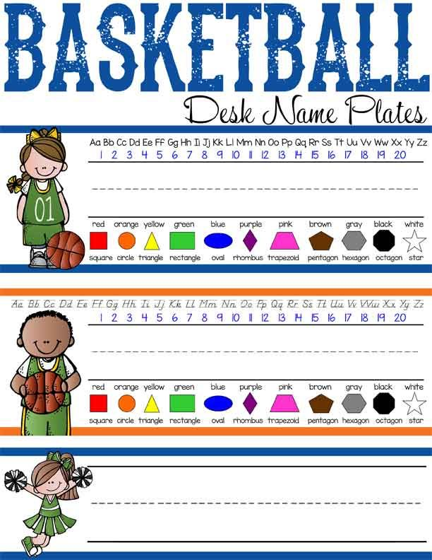 BASKETBALL Theme Classroom Decor / Student Desk Name Plates / you ...