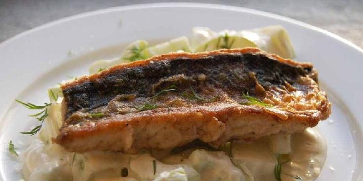 Panert makrell med epletzatziki