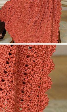 Trefoil Throw, free pattern from Red Heart Yarns  . . . .   ღTrish W ~ http://www.pinterest.com/trishw/  . . . .   #crochet #afghan #blanket