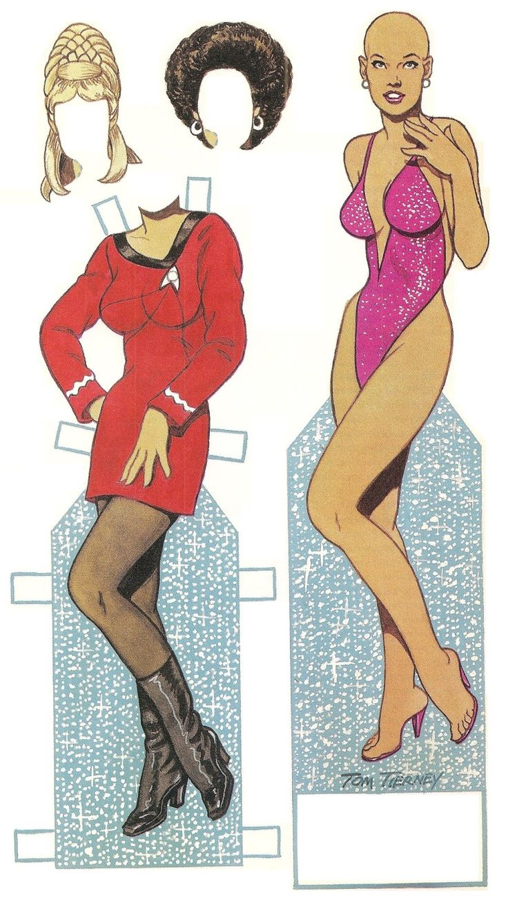 Tom tierney colonial fashions paper dolls - Star Trek Original Uhura Uniform With Hair For Uhura And Yeoman Rand Tom Tierney Created A Base Paper Doll To Use For All The Female Characters