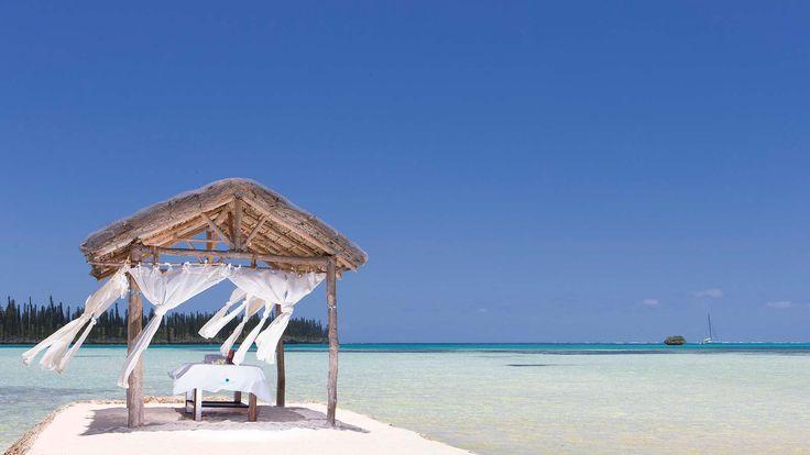 Le Meridien Ile Des Pins - massage fare on the beach