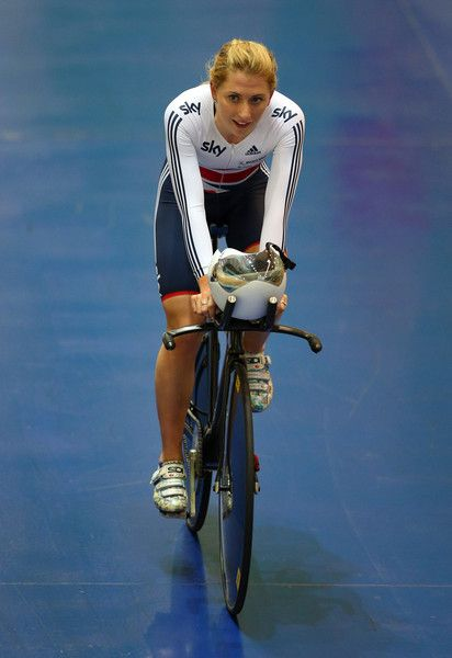 Laura Trott Photos - Laura Trott of Team GB trains during a Team GB Cycling Media Day at the National Cycling Centre on February 9, 2015 in…