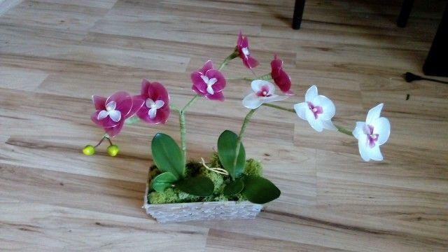 Orchid nylon flowers