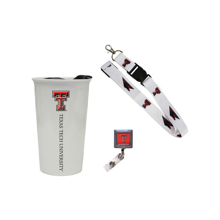 Texas Tech Red Raiders Badge Holder, Lanyard & Tumbler Job Pack, Adult Unisex, Multicolor