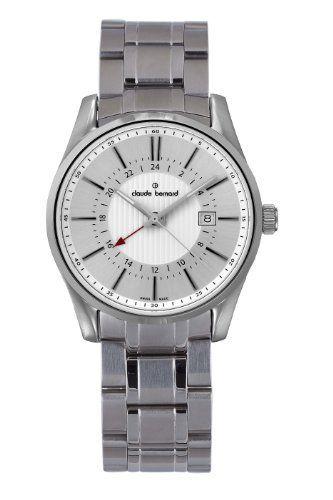 Claude Bernard Men's 52004 3 AIN Classic Gents Silver Dual Time Stainless Steel Watch claude bernard. $262.50