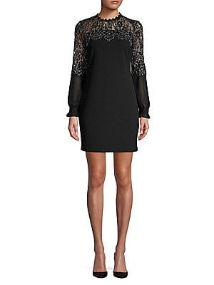 56172540cb Kensie Dresses Metallic Lace Shift Dress