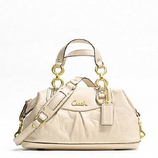 Coach: Cream Ashley, Leather Satchel, Ashley Embossing, New Coach Handbags, Design Handbags, Coach Bags Outlets, Handbags Cream, Satchel F19449, Embossing Leather