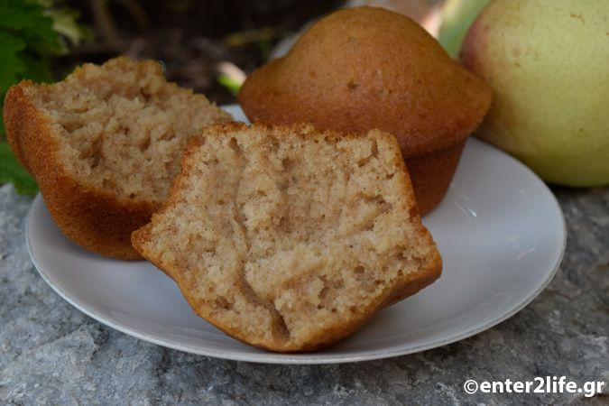 Κεκάκια με αχλάδι, κανέλα και γάλα κεφίρ – enter2life.gr