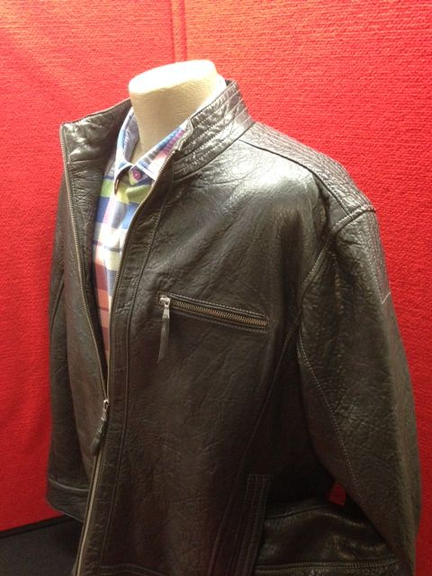 Supple Missani leather jacket with great stitch detail going down the shoulder and on the pockets.