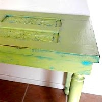 make a table out of a door