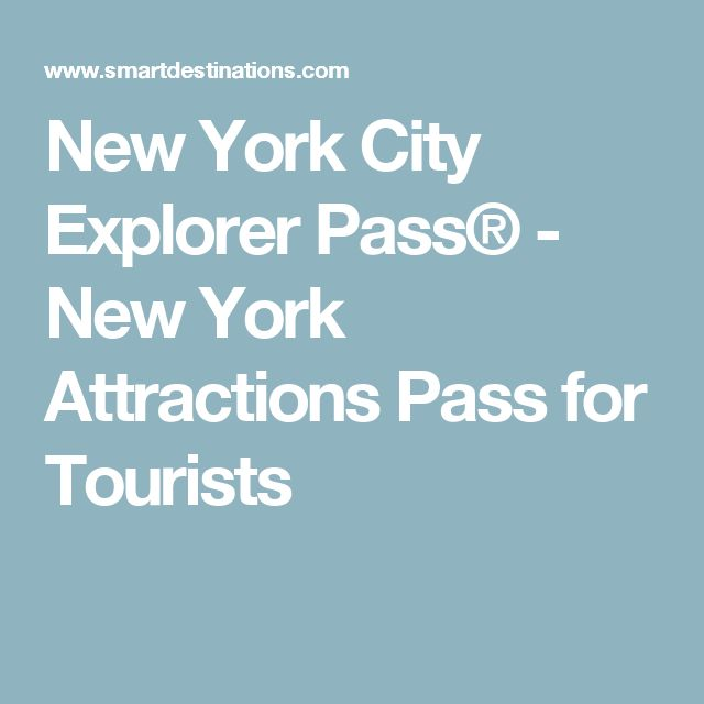 New York City Explorer Pass® - New York Attractions Pass for Tourists