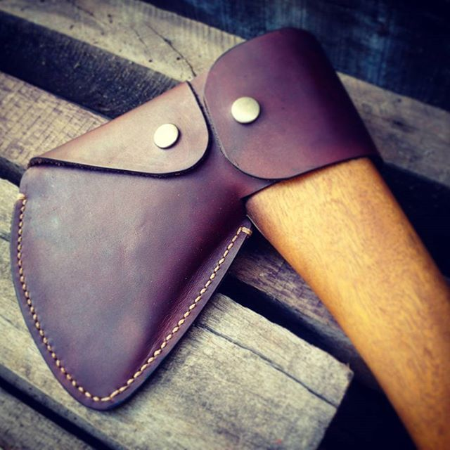 #leathercraft #handmade #leather #rusticman #axe #tools #leathergoods