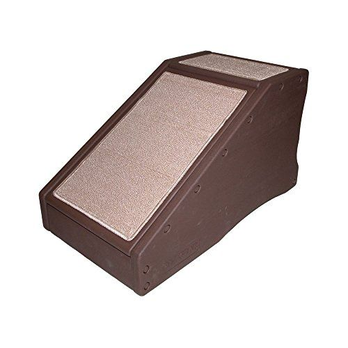 """Lightweight StRamp 28"""" Pet Ramp - Pets up to 150 Pounds - Ramps for Small or Large Dogs - Solid, Durable and Easy to Assemble - Rubber Grippers Base - Use At Bed, Sofa, Car, Couch for Steps - Removable Carpet Tread for Easy Machine Wash - Chocolate Color"""
